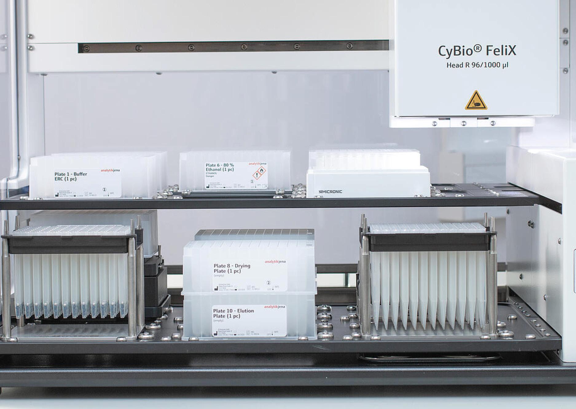 Enhet för automatisk extraktion av nukleinsyra med CyBio FeliX